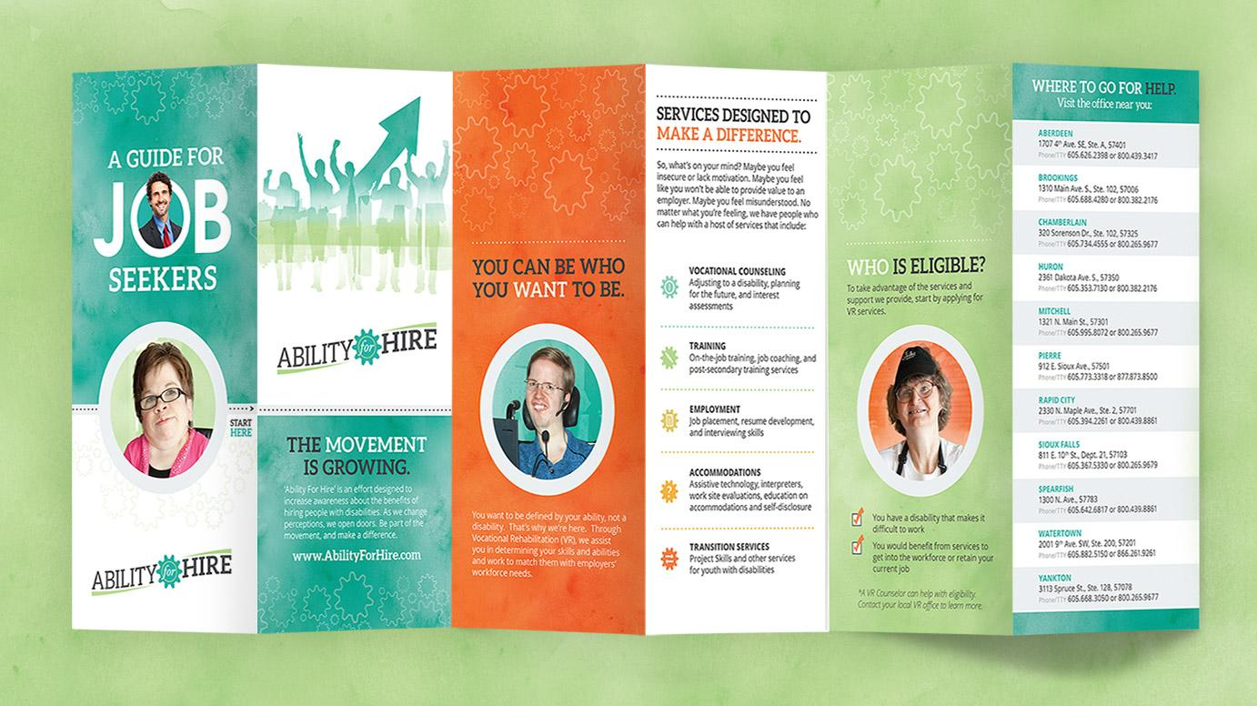 Ability For Hire Collateral Job Seeker Brochure