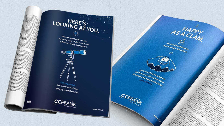 CCFBank Print Ads