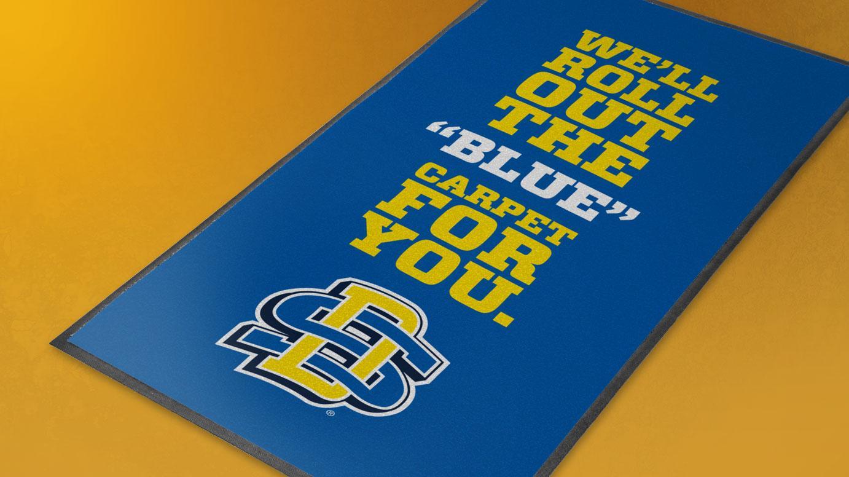 SDSU Print Blue Carpet